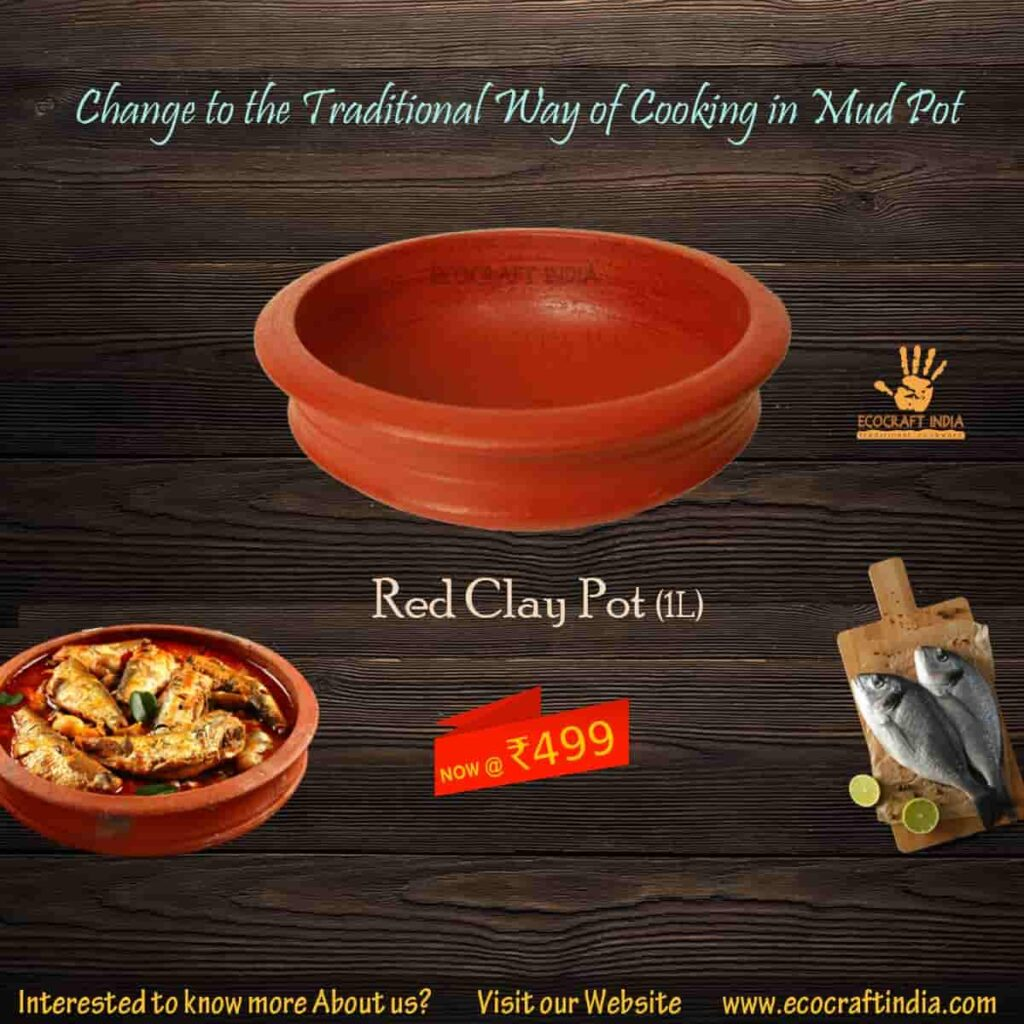 Red Clay pot ecocraft India